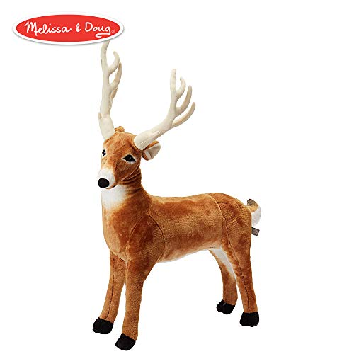 Melissa & Doug Giant Deer - Lifelike Stuffed Animal (over 3 feet long) -