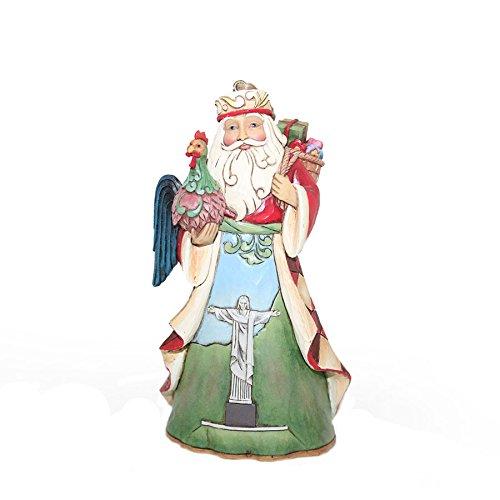 Jim Shore Heartwood Creek Brazilian Santa Stone Resin Hanging Ornament, 4.75