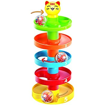ball tower toy. 5 layer ball drop and roll swirling tower for baby toddler development educational toys   toy e