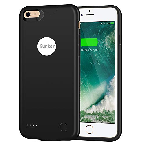 iPhone 8 Battery Case/iPhone 7 Battery Case, (2800mAh) Ultra Slim Portable Rechargeable Charger Case Extended Battery Charging Case for iPhone 8/iPhone 7 (4.7 inch)-Black by Kunter