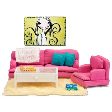 Lundby Dollhouse Accessories & Modern Sitting Room Set