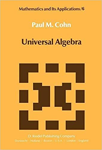 Book Universal Algebra (Mathematics and Its Applications) by P.M. Cohn (2013-10-04)