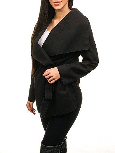 Motivo Mujer D4D Abrigo Negro Corto BOLF Waterfall Cuello xYdZw7wq