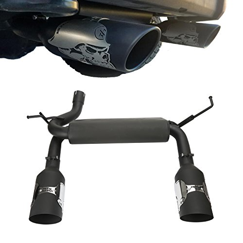 u-Box Jeep JK Skeleton Exhaust Rear Axle Back Stainless Black Dual Exhaust Muffler System for 2007 2008 2009 2010 2011 2012 2013 2014 2015 2016 2017 2018 Jeep Wrangler & - Exhaust Dual Jeep