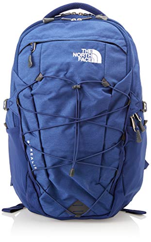 The North Face Borealis Backpack - Flag Blue Light Heather & TNF White - - Mesh Lined Fleece
