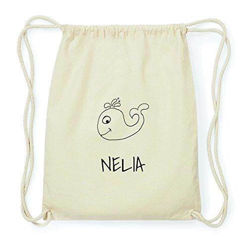 JOllipets NELIA Hipster Turnbeutel Tasche Rucksack aus Baumwolle Design: Wal