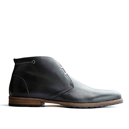 Travelin Liverpool Leder Chukka Boots | Schnürhalbschuhe Herren | Freizeitschuhe Hochzeitschuhe | Business Schuhe Anzugschuhe | Grau 47 EU