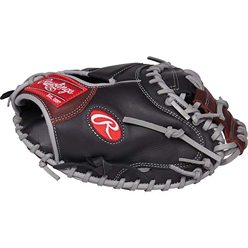 - Rawlings R9 Catcher's Baseball Glove, Black, 32.5