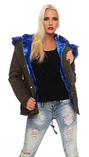 oliv Femme Noir 1 blau Schwarz Fashion4young Manteau nxqAw50X66