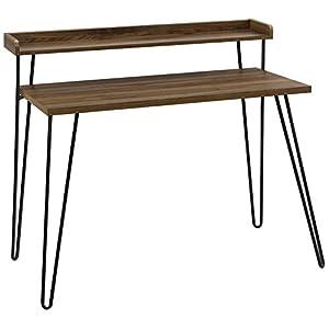 Ameriwood Home Haven Retro Desk with Riser, Walnut