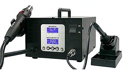 GOWE 220 V hiks-libre doble estación de soldadura LCD 2-in-1
