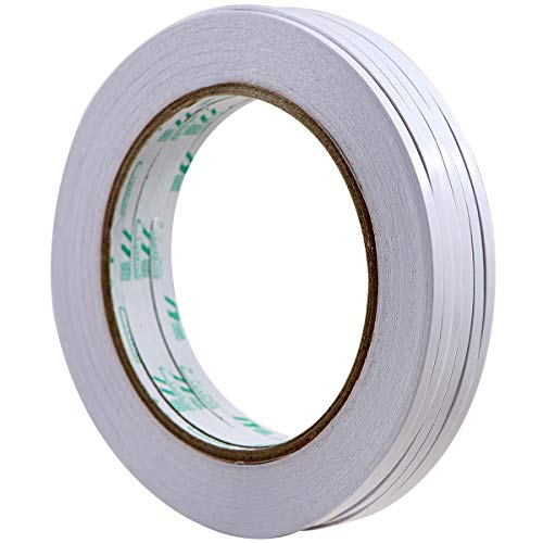 Scrapbooking Supplies 6 Rolls 3mm x 25 Yards Double-Sided Adhesive Tape for Arts, Crafts, Photography, Scrapbooking, Card Making, Gift Wrapping & Office School Stationery Supplies by QCZKB