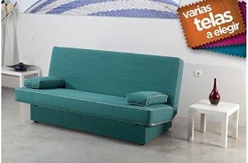 SHIITO Sofá Cama de Apertura Clic clac, con Base tapizada ...