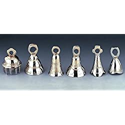 "2.5"" Assorted Silver Bells, Dozen"