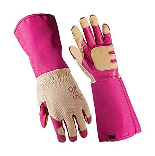 '47 Digz Long Cuff Grain Goatskin Rose Picker Gloves Extended Cuff Heavy Duty, Large