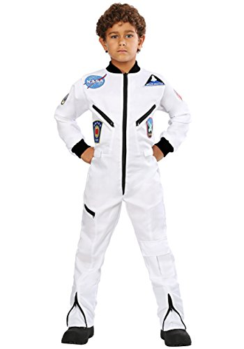 Child White Astronaut Jumpsuit Costume Medium ()