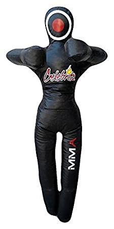 Hands on Chest Standing Celebrita MMA Vinyl Punching Bag Grappling Dummy unfilled