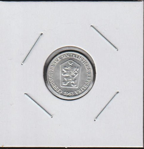 1963 CZ Czech Lion with Socialist Shield within Shield Penny Choice About Uncirculated (Silver Czech Coin)