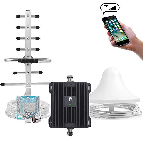 (Cell Phone Signal Booster for Home & Office - Boost Verizon AT&T Sprint T-Mobile GSM 3G Voice Signal by Dual Band 2/5 850/1900MHz Cellular Repeater Amplifier Kit and High Gain Ceiling/Yagi Antennas)