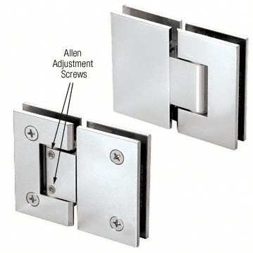 180 Series Chrome Glass (CRL Chrome Vienna 380 Series Adjustable 180 Degree Glass-to-Glass Hinge)
