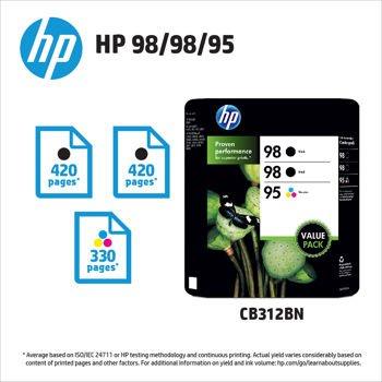 HP 98/98/95 Printer Ink (Two Black/One Color Package) (95 98 Hp Ink Cartridge)