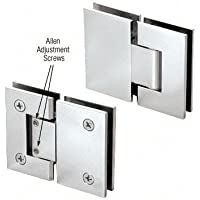 CRL Chrome Vienna 380 Series Adjustable 180 Degree Glass-to-Glass Hinge