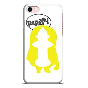 Loud Universe iPhone 7 Case Minion Case Stuart Papaya Silhoutte Low Profile Light Weight Wrap Around iPhone 7 Cover