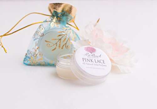 "Womens Solid Perfume Fragrance .50 oz ""Pink Lace"" Floral All Natural Perfume"