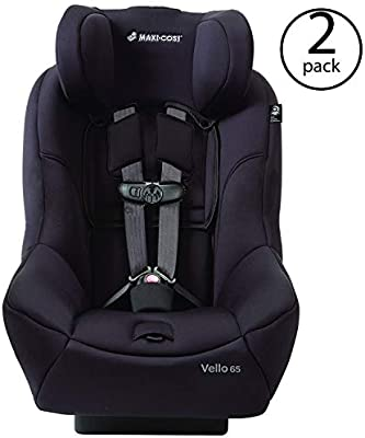 Maxi-Cosi Vello 65 Baby Infant to Toddler Convertible Car Seat, Black (2 Pack)