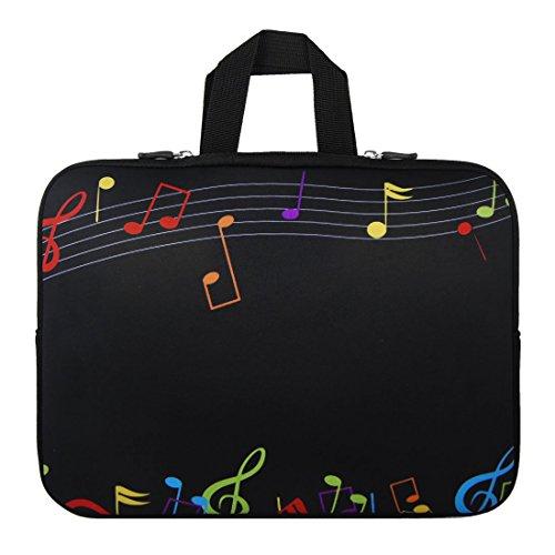 SODIAL(R) 17 17.3 Zoll 17.4 Musiknote Notebook Laptop Huelsen Handgriff Beutel Kasten