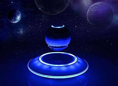MUSIC ANGEL Levitating Portable Wireless Bluetooth Speakers Multicolor LED Floating Levitation Speaker with Microphone for iphone ipad