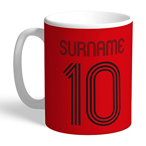 Manchester United Official Personalized FC Retro Shirt Mug - FREE PERSONALISATION by Manchester United