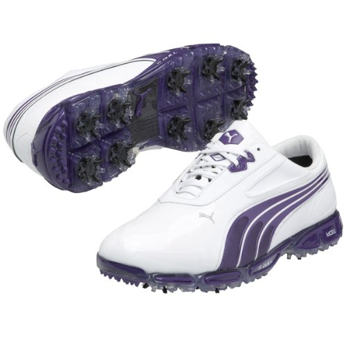 1a9895014ad257 Puma Golf Men s AMP Cell Fusion SL Golf Shoes - US 11 - White Heliotrope -  Buy Online in UAE.