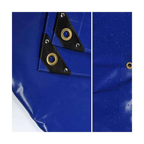 41jUuij2HcL NEMAXX PLA32 Premium Abdeckplane 300x200 cm blau mit Ösen, 650 g/m² PVC wasserdicht&reißfest - hochwertige Plane…