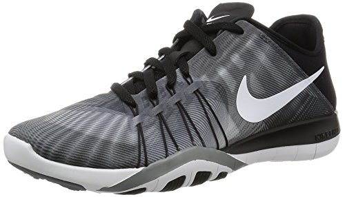 Nike Wmns Free Tr 6 Prt, Zapatillas de Gimnasia para Mujer Negro (Black / White-Cool Grey)