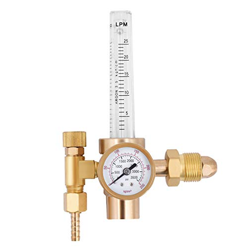 HZXVOGEN Flowmeter Argon Co2 Gas Regulator Tig Mig Welding Pressure Reducer Flow Gauge - Flow Gauge Oxygen Regulators
