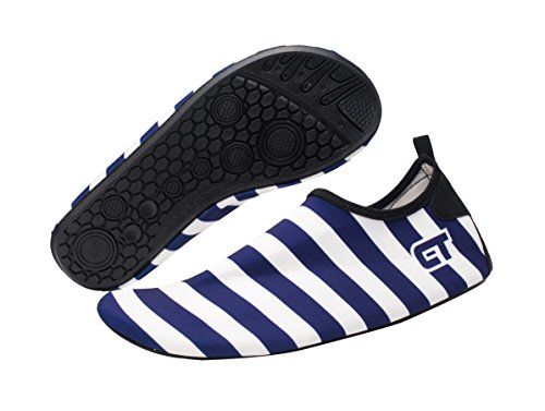 Giotto Wassersport Barefoot Aerobic Schuhe Leichte Quick-Dry Aqua Socken für Beach Pool Swim Yoga B3-dunkelblau