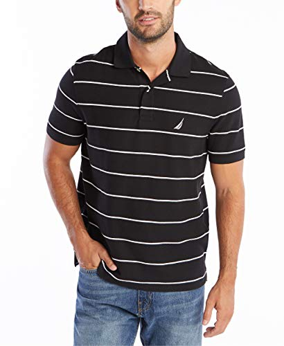 Nautica Men's Stripe Performance Pique Polo