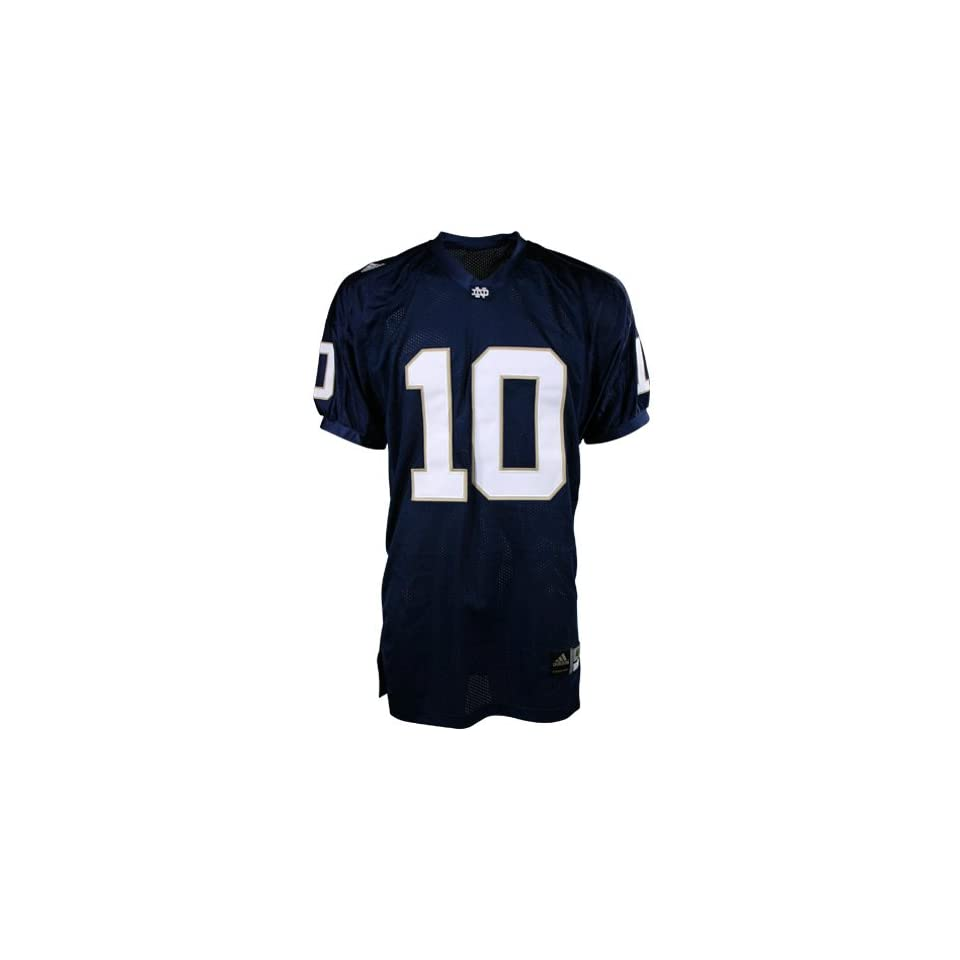 Adidas Notre Dame Fighting Irish #10 Navy Authentic Football Jersey