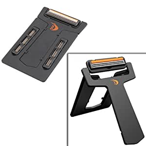 Ultra Portable Cassette Razor / Card Shaver, Credit Card Size with Mirror