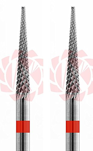 2 PC Carbide Bur Fine Crosscut – HP 2.35 mm Shank (Cross Cut Bur)