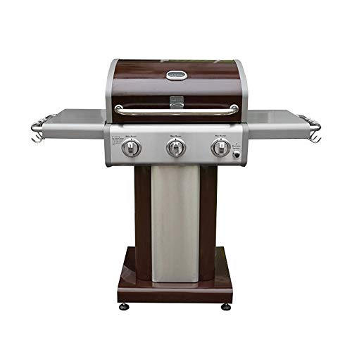 Kenmore PG-4030400L-AM 3 Burner Outdoor Patio Gas BBQ Propane Grill, Dark Mocha