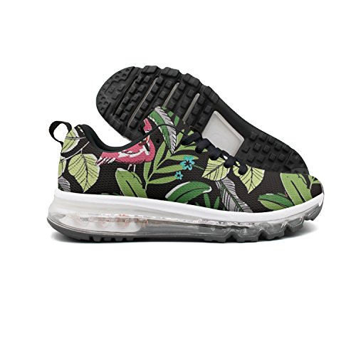 Euuair Womens Old Stlye Flamingo Plam Nero Acqua Fitness Cuscino Daria Scarpe Casual Running Walking Sneakers
