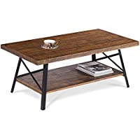 Sleeplace SVC18TB01S 18 Vintage Rustic Wooden Cocktail Table, Standard, Brown