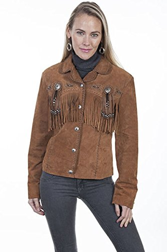 6ded5ae1e Scully Womens Boar Suede Fringe Beaded Jacket