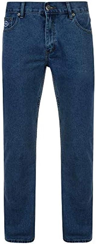 Fenside Country Clothing Męskie Straight Leg Jeanshose Blau blau: Odzież