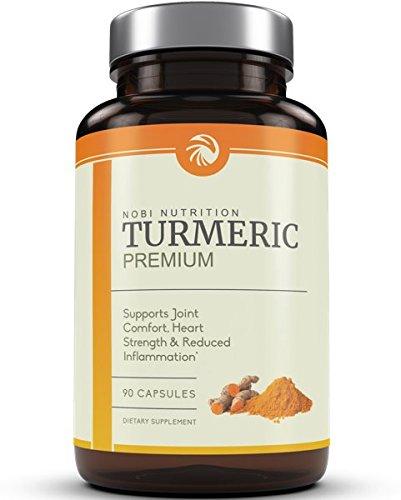 Premium Turmeric Curcumin 1400mg with 95% Curcuminoids & BioPerine Black Pepper Superior Absorption - Enhanced With Spirulina, All Natural Anti-Inflammatory, Cardiovascular, Joint Support, Non-GMO