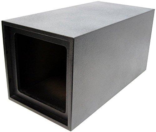 ASC Single 12 Kicker Square L3 L5 L7 Subwoofer Tube Vented Port Sub Box Speaker Enclosure - Armor Coated