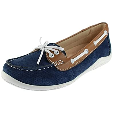 discount sale look good shoes sale outlet for sale Earth Spirit Milwaukee Ladies Boat Shoes Navy Blue: Amazon.co.uk ...