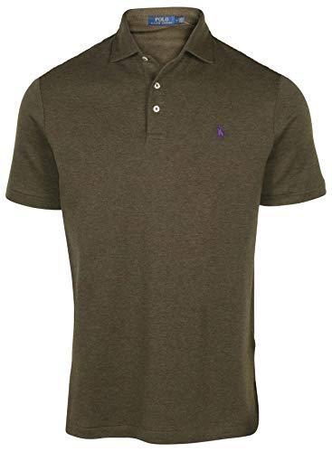 Polo RL Men's Interlock Polo Shirt-Green/Purple Pony-Small ()